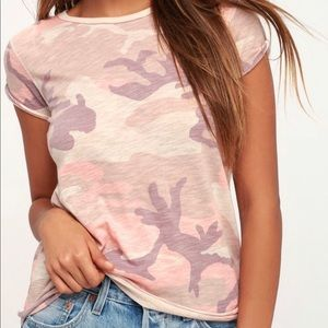 Free People we the free pink camo clare tee